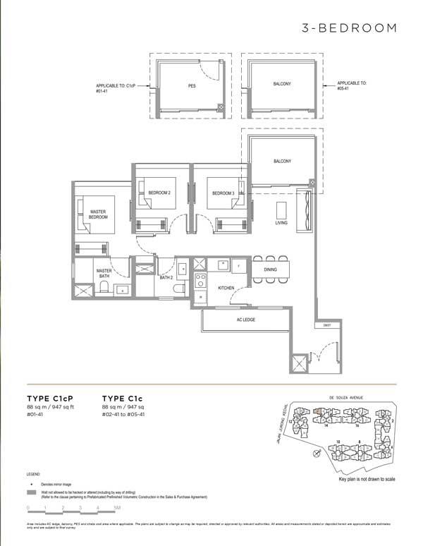 Verdale-floor-plan-3-bedroom-type-c1c